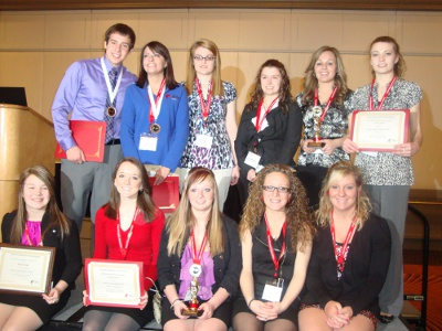 West Virginia career technical students show off their top finish awards and certificates at the Future Educators Association National Conference.