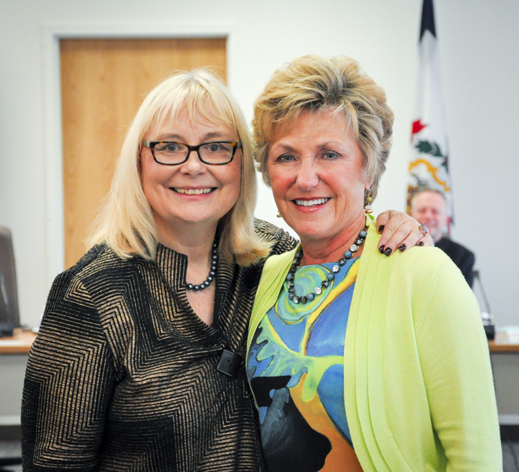 Kristen Amundson and Gayle Manchin